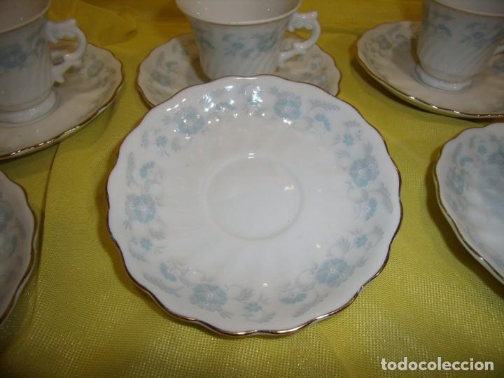 Antigüedades: Juego café porcelana China, filo de oro, 12 piezas, años 80, caja original, Nuevo sin usar. - Foto 5 - 184122152