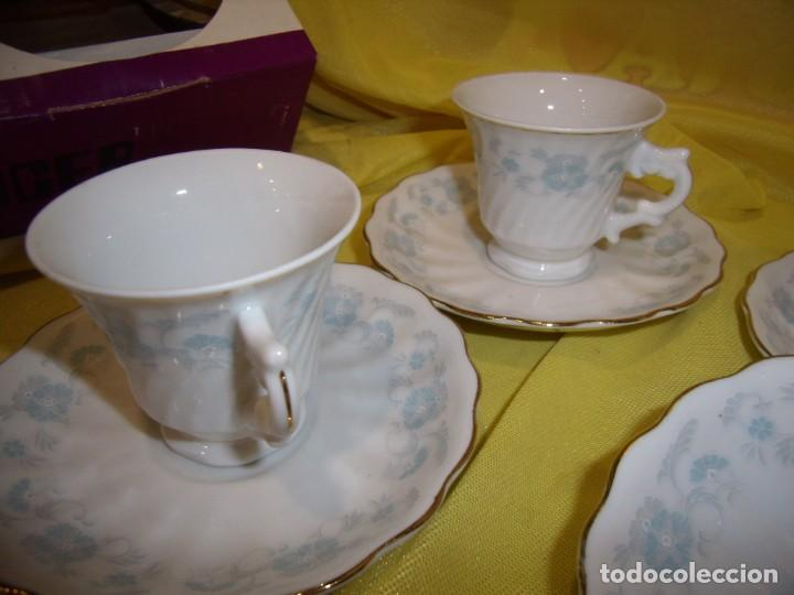 Antigüedades: Juego café porcelana China, filo de oro, 12 piezas, años 80, caja original, Nuevo sin usar. - Foto 8 - 184122152