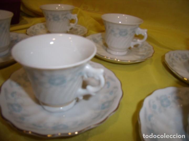 Antigüedades: Juego café porcelana China, filo de oro, 12 piezas, años 80, caja original, Nuevo sin usar. - Foto 9 - 184122152