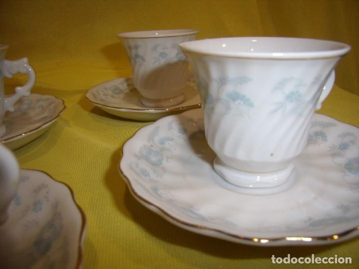 Antigüedades: Juego café porcelana China, filo de oro, 12 piezas, años 80, caja original, Nuevo sin usar. - Foto 10 - 184122152