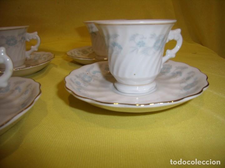 Antigüedades: Juego café porcelana China, filo de oro, 12 piezas, años 80, caja original, Nuevo sin usar. - Foto 11 - 184122152