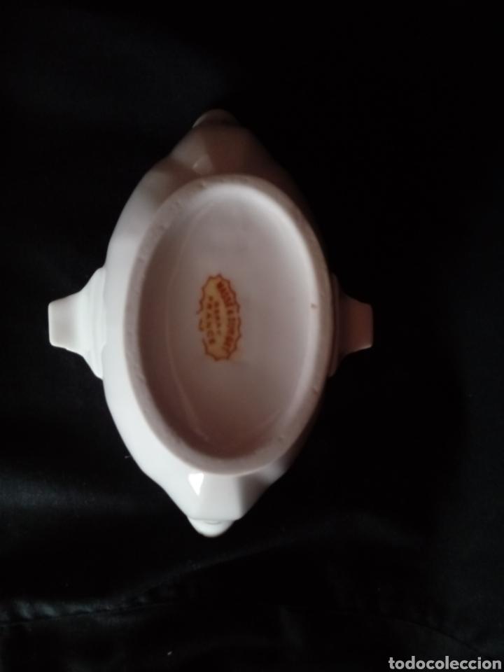 Antigüedades: Antigua salsera de porcelana francesa tipo viejo París Maigre Gras - Foto 7 - 184128488