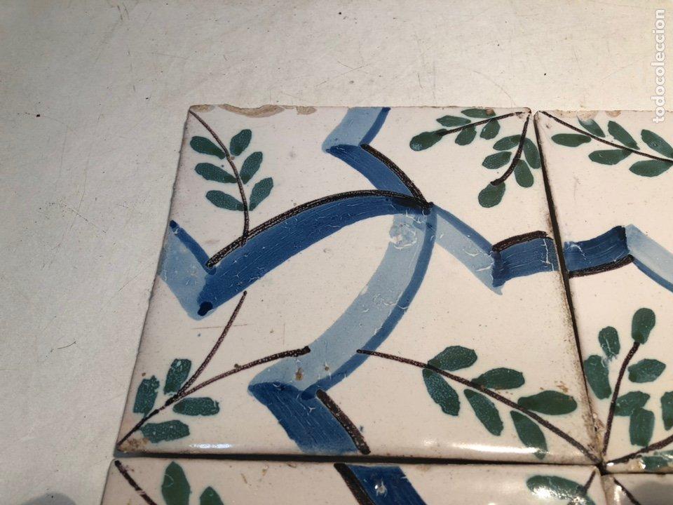 Antigüedades: ANTIGUOS AZULEJOS, RAJOLAS CERAMICA CATALANA SIGLO XIX - Foto 2 - 184171580