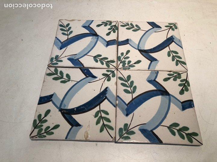 ANTIGUOS AZULEJOS, RAJOLAS CERAMICA CATALANA SIGLO XIX (Antigüedades - Porcelanas y Cerámicas - Azulejos)