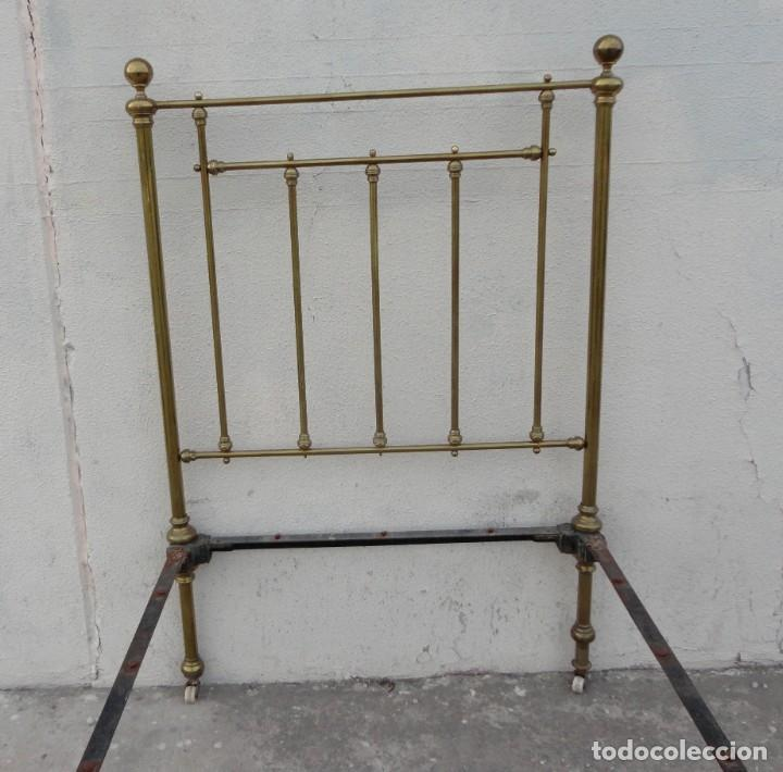 Antigüedades: Cama antigua de bronce de 90 - Foto 4 - 184173861