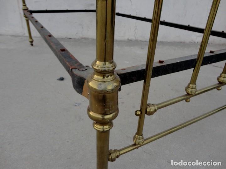 Antigüedades: Cama antigua de bronce de 90 - Foto 10 - 184173861