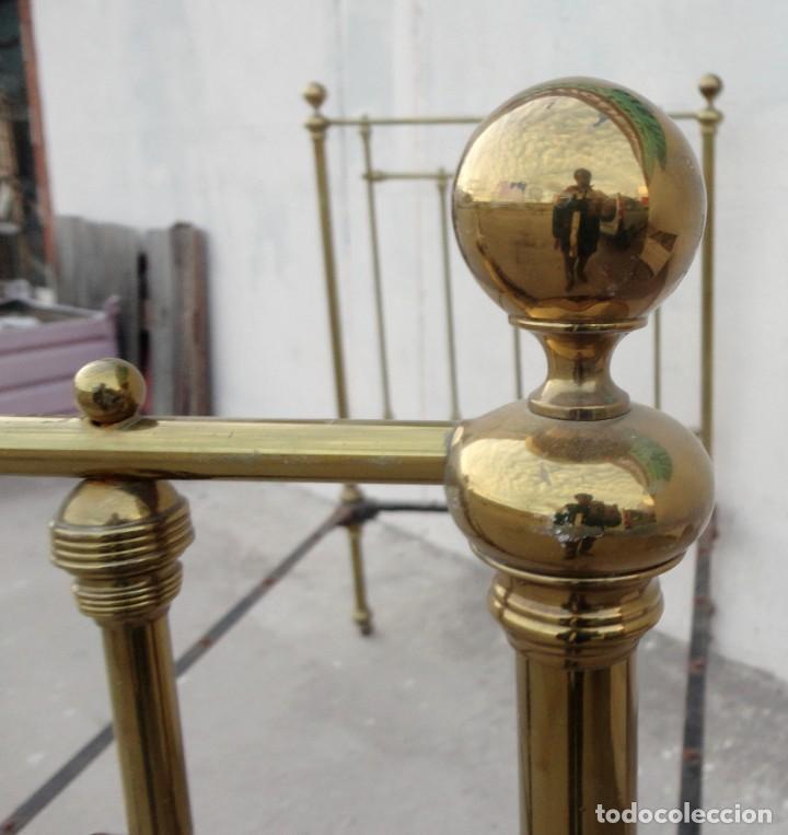 Antigüedades: Cama antigua de bronce de 90 - Foto 11 - 184173861
