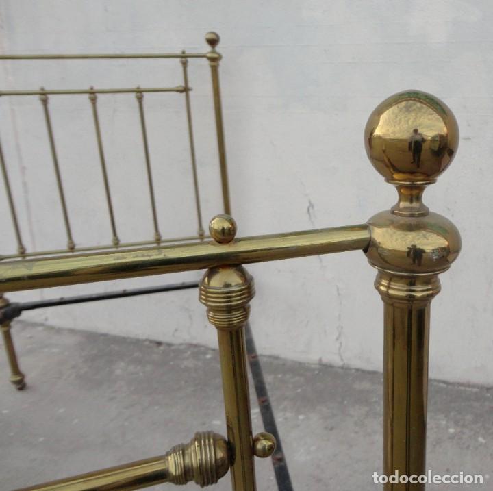Antigüedades: Cama antigua de bronce de 90 - Foto 12 - 184173861