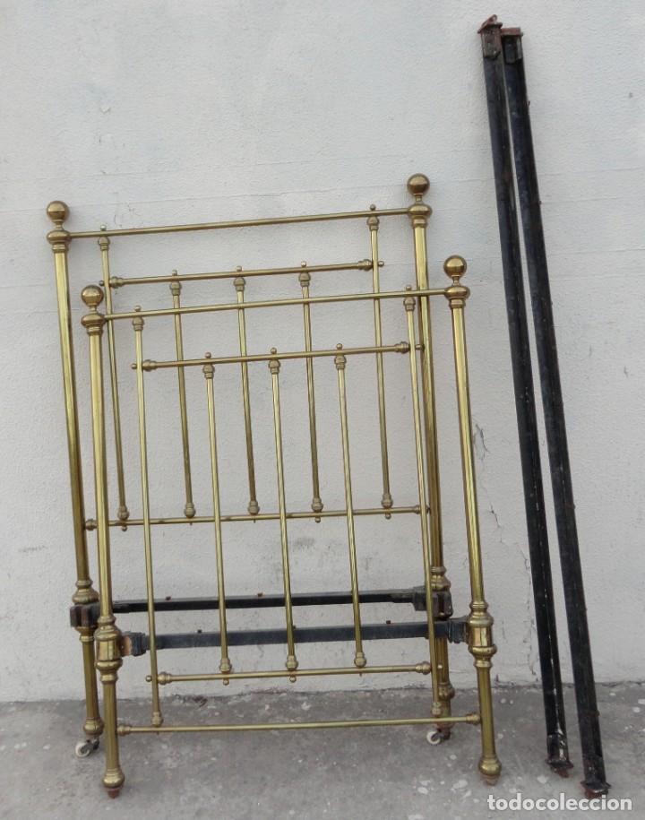 Antigüedades: Cama antigua de bronce de 90 - Foto 13 - 184173861