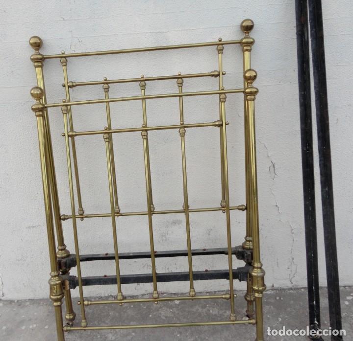 Antigüedades: Cama antigua de bronce de 90 - Foto 14 - 184173861