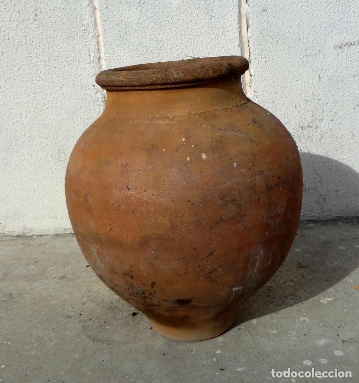 Antigüedades: Tinaja antigua de barro con marcas - Foto 9 - 184187406