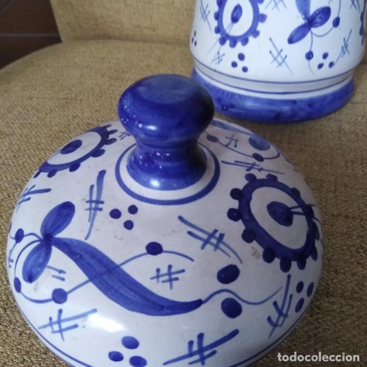 Antigüedades: Antiguo albarelo, bote de farmacia. años 30 - Foto 4 - 184187856