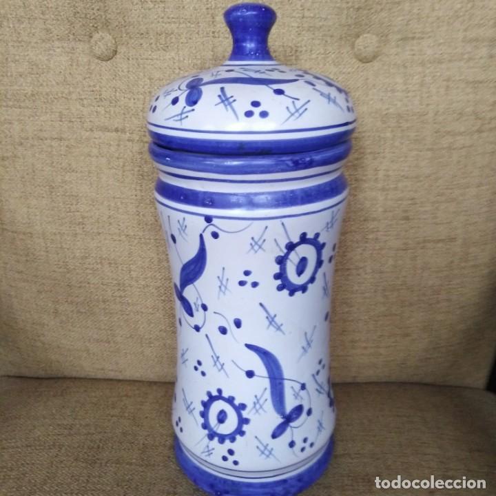 Antigüedades: Antiguo albarelo, bote de farmacia. años 30 - Foto 6 - 184187856