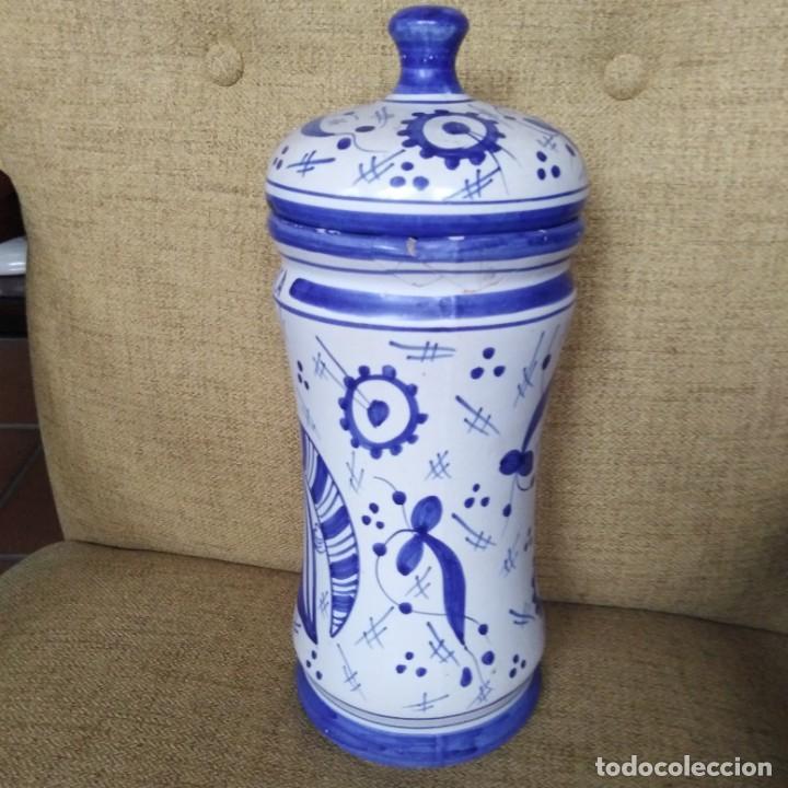 Antigüedades: Antiguo albarelo, bote de farmacia. años 30 - Foto 7 - 184187856