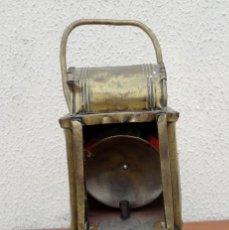 Antigüedades: FAROL, LAMPARA DE CARBURO ANTIGUO, SXIX, BRONCE . Lote 184188572