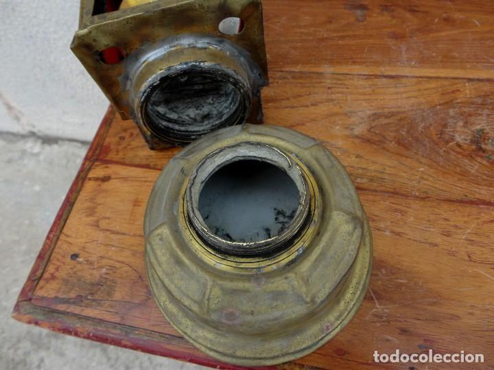 Antigüedades: Farol, lampara de carburo antiguo, SXIX, bronce - Foto 8 - 184188572