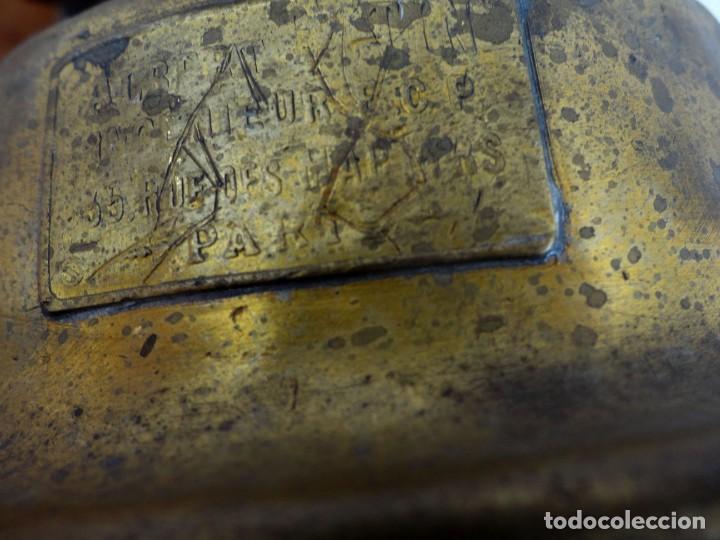 Antigüedades: Farol, lampara de carburo antiguo, SXIX, bronce - Foto 11 - 184188572