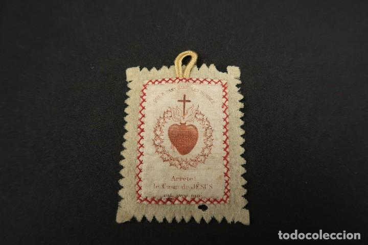 ANTIGUO ESCAPULARIO RELIGIOSO (Antigüedades - Religiosas - Escapularios Antiguos)