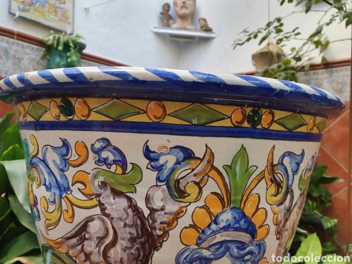 Antigüedades: PRECIOSA MACETA O MACETON DE GRAN TAMAÑO CERÁMICA SANTA ANA TRIANA (SEVILLA) PRINCIPIOS DEL S.XX - Foto 6 - 184199635