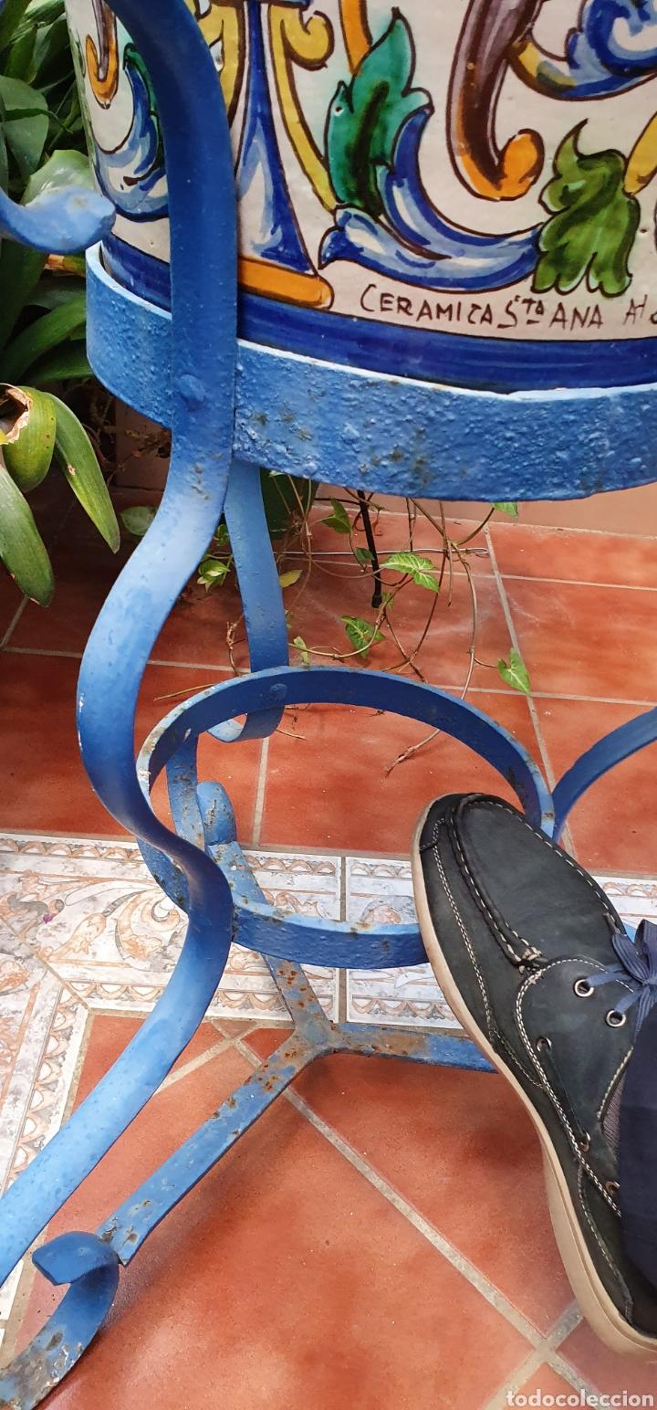 Antigüedades: PRECIOSA MACETA O MACETON DE GRAN TAMAÑO CERÁMICA SANTA ANA TRIANA (SEVILLA) PRINCIPIOS DEL S.XX - Foto 8 - 184199635