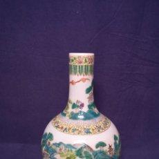 Antigüedades: JARRON CHINO FAMILIA VERDE. Lote 184220722