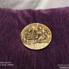 Antigüedades: METOPA RELIEVE, NATAL EN BRONCE PULIDO, AÑO 1996, VER PIEZA MAGNÍFICA. Lote 184224310