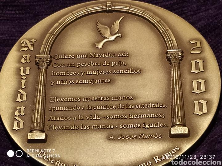 Antigüedades: INIGUALABLE METOPA NATAL EN RELIEVE, BRONCE PULIDO, ÚNICA, VER, AÑO 2000 - Foto 4 - 184226316
