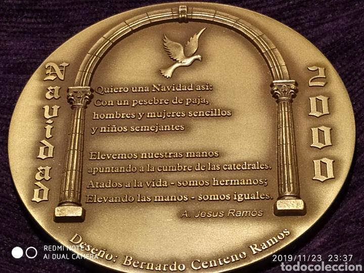 Antigüedades: INIGUALABLE METOPA NATAL EN RELIEVE, BRONCE PULIDO, ÚNICA, VER, AÑO 2000 - Foto 5 - 184226316