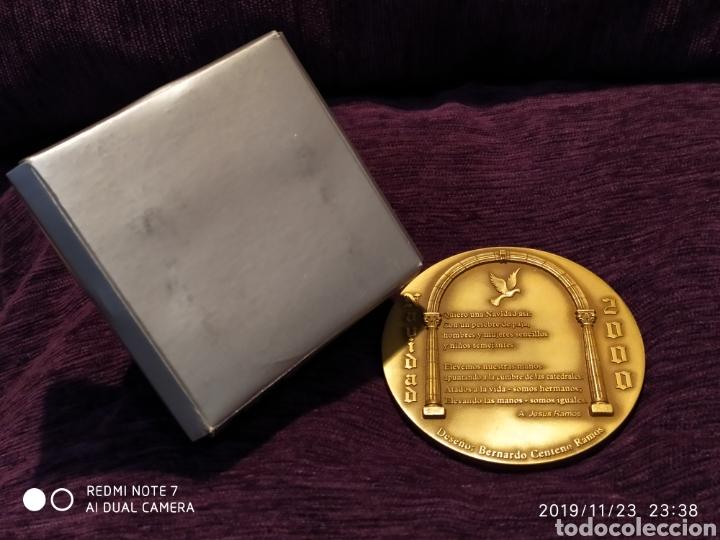 Antigüedades: INIGUALABLE METOPA NATAL EN RELIEVE, BRONCE PULIDO, ÚNICA, VER, AÑO 2000 - Foto 6 - 184226316