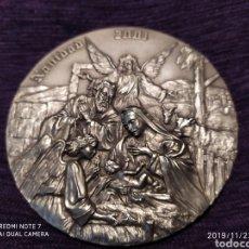 Antigüedades: PRECIOSA Y ÚNICA METOPA NATAL, RELIEVE, BRONCE PLATEADO, 2001, VER, ÚNICA. Lote 184227118