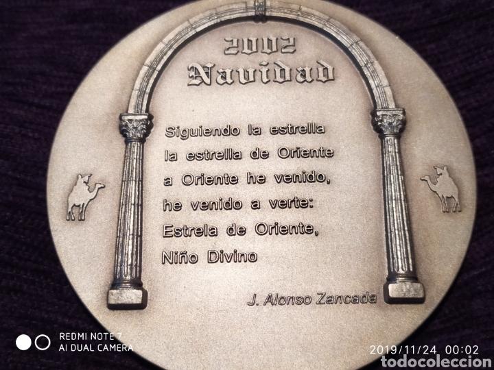 Antigüedades: MAGNÍFICA Y ÚNICA METOPA NATAL, BRONCE PLATEADO Y RELIEVE, 2002, ÚNICA, VER - Foto 3 - 184227701