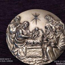 Antigüedades: MAGNÍFICA Y ÚNICA METOPA NATAL, BRONCE PLATEADO Y RELIEVE, 2002, ÚNICA, VER. Lote 184227701