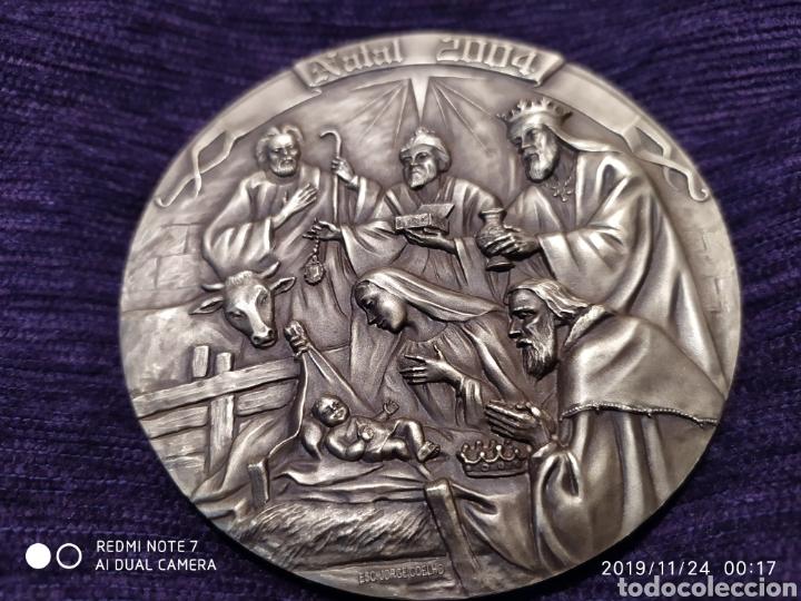 Antigüedades: MAGNÍFICA METOPA, RELIEVE, NATAL EN BRONCE PULIDO, ÚNICA, 2004, VER - Foto 2 - 184230447