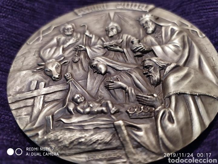 Antigüedades: MAGNÍFICA METOPA, RELIEVE, NATAL EN BRONCE PULIDO, ÚNICA, 2004, VER - Foto 3 - 184230447