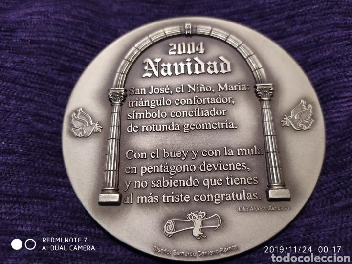 Antigüedades: MAGNÍFICA METOPA, RELIEVE, NATAL EN BRONCE PULIDO, ÚNICA, 2004, VER - Foto 4 - 184230447