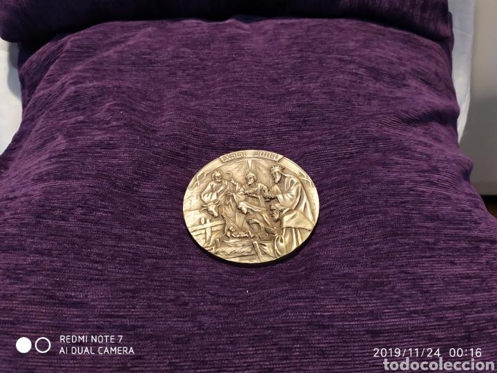 MAGNÍFICA METOPA, RELIEVE, NATAL EN BRONCE PULIDO, ÚNICA, 2004, VER (Antigüedades - Hogar y Decoración - Otros)