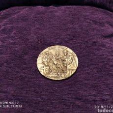 Antigüedades: MAGNÍFICA METOPA, RELIEVE, NATAL EN BRONCE PULIDO, ÚNICA, 2004, VER. Lote 184230447