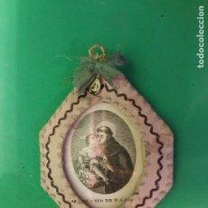 Antigüedades: CONSERVADO Y ANTIGUO ESCAPULARIO SAN ANTONIO DE PADUA SGXIX. CRISTALIZADO. Lote 184255588