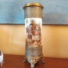 Antigüedades: MAGISTRAL JARRÓN FRANCÉS,LIMOGES? XIX XX. Lote 184263008