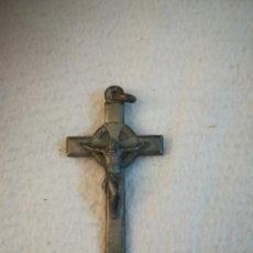 Antigüedades: ANTIGUO CRUCIFIJO. DOBLE CARA. CRUZ CELTA CON CRUZ DE MALTA. DORSO IMAGEN JUAN PABLO II. 4 X 7CM.. Lote 184266743