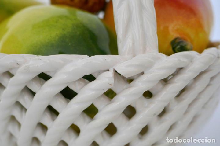 Antigüedades: Centro de mesa frutero vintage cerámica de Manises - Foto 5 - 184267656