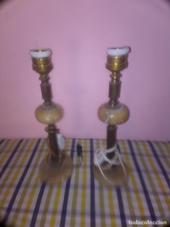 PAREJA DE LÁMPARAS ANTIGUAS (Antigüedades - Iluminación - Lámparas Antiguas)