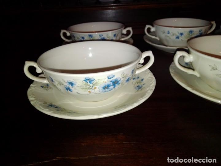 Antigüedades: Juego tazones y platos de porcelana Pontesa - Foto 2 - 184320477