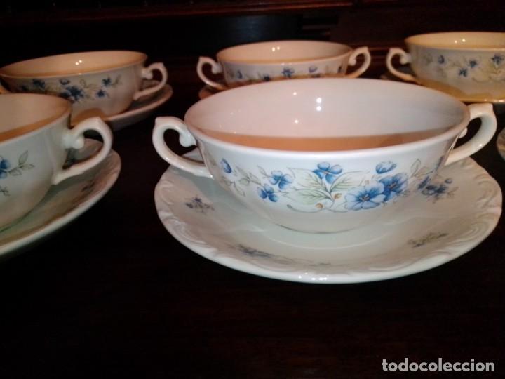 Antigüedades: Juego tazones y platos de porcelana Pontesa - Foto 3 - 184320477