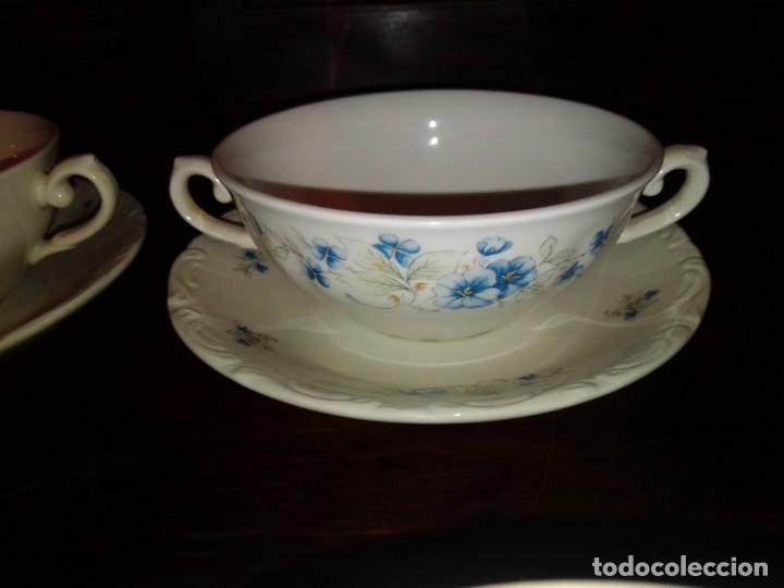 Antigüedades: Juego tazones y platos de porcelana Pontesa - Foto 5 - 184320477