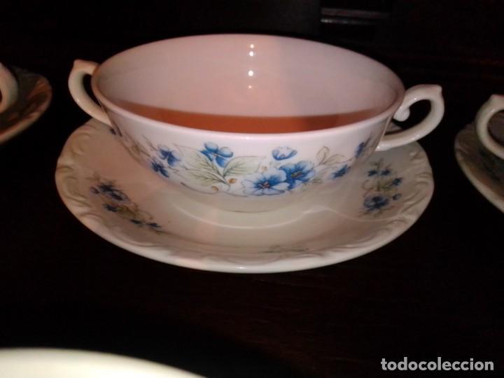 Antigüedades: Juego tazones y platos de porcelana Pontesa - Foto 6 - 184320477