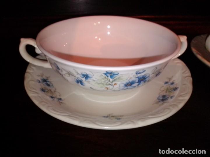 Antigüedades: Juego tazones y platos de porcelana Pontesa - Foto 7 - 184320477