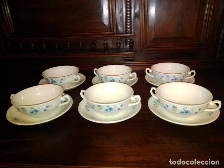 Antigüedades: Juego tazones y platos de porcelana Pontesa - Foto 8 - 184320477