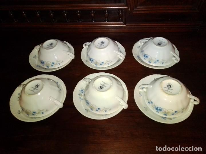 Antigüedades: Juego tazones y platos de porcelana Pontesa - Foto 9 - 184320477