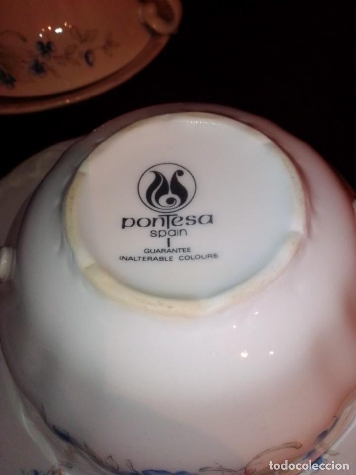 Antigüedades: Juego tazones y platos de porcelana Pontesa - Foto 10 - 184320477